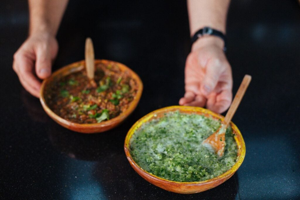 Fresh and raw salsa verde, Easy homemade taco sauce recipes, easy and delicious, onion powder,